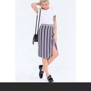 UO Ecote Striped Wrap Skirt
